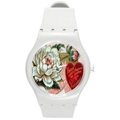 Victorian Valentine Card Plastic Sport Watch (Medium)