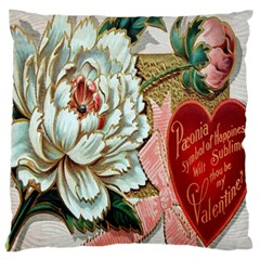 Victorian Valentine Card Large Cushion Case (Two Sided)