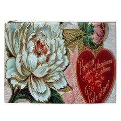 Victorian Valentine Card Cosmetic Bag (XXL)