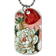 Victorian Valentine Card Dog Tag (One Sided)