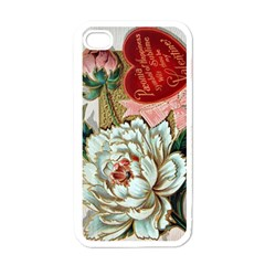 Victorian Valentine Card Apple iPhone 4 Case (White)
