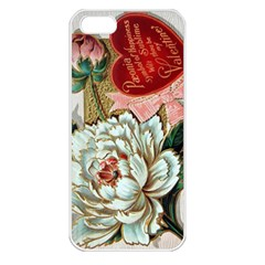 Victorian Valentine Card Apple iPhone 5 Seamless Case (White)