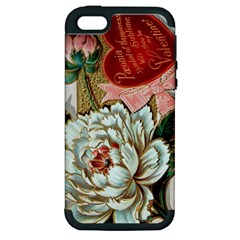 Victorian Valentine Card Apple iPhone 5 Hardshell Case (PC+Silicone)