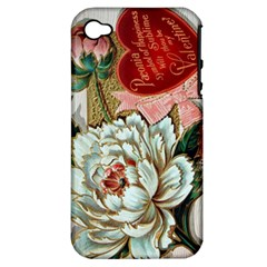 Victorian Valentine Card Apple iPhone 4/4S Hardshell Case (PC+Silicone)