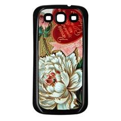 Victorian Valentine Card Samsung Galaxy S3 Back Case (Black)