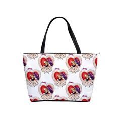 Vintage Valentine Girl Large Shoulder Bag