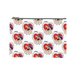 Vintage Valentine Girl Cosmetic Bag (Large)