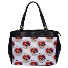 Vintage Valentine Girl Oversize Office Handbag (One Side)