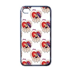 Vintage Valentine Girl Apple iPhone 4 Case (Black)