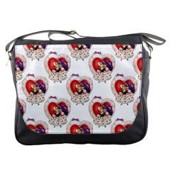 Vintage Valentine Girl Messenger Bag