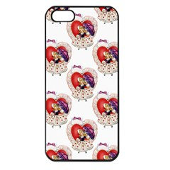 Vintage Valentine Girl Apple iPhone 5 Seamless Case (Black)
