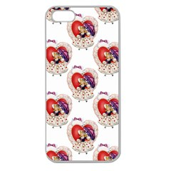 Vintage Valentine Girl Apple Seamless iPhone 5 Case (Clear)