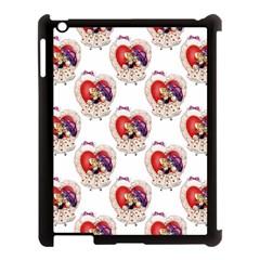 Vintage Valentine Girl Apple iPad 3/4 Case (Black)