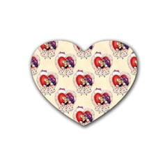 Vintage Valentine Girl Drink Coasters (Heart)