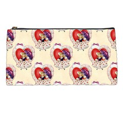 Vintage Valentine Girl Pencil Case