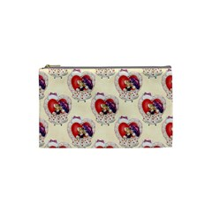 Vintage Valentine Girl Cosmetic Bag (Small)
