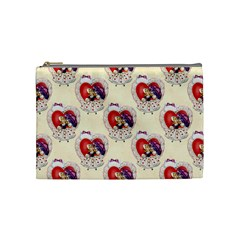 Vintage Valentine Girl Cosmetic Bag (Medium)