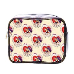 Vintage Valentine Girl Mini Travel Toiletry Bag (One Side)