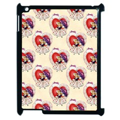 Vintage Valentine Girl Apple iPad 2 Case (Black)