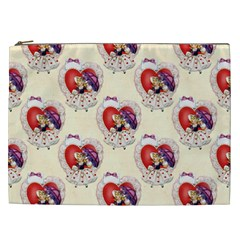 Vintage Valentine Girl Cosmetic Bag (XXL)