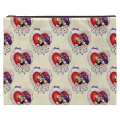 Vintage Valentine Girl Cosmetic Bag (XXXL)