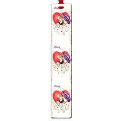 Vintage Valentine Girl Large Bookmark