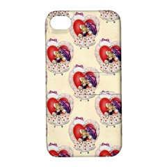 Vintage Valentine Girl Apple iPhone 4/4S Hardshell Case with Stand