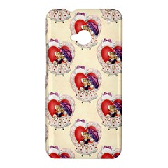 Vintage Valentine Girl HTC One Hardshell Case