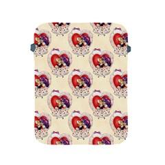 Vintage Valentine Girl Apple iPad Protective Sleeve