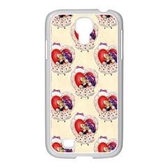 Vintage Valentine Girl Samsung GALAXY S4 I9500/ I9505 Case (White)