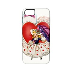 Vintage Valentine Girl Apple iPhone 5 Classic Hardshell Case (PC+Silicone)