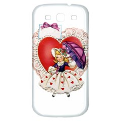 Vintage Valentine Girl Samsung Galaxy S3 S III Classic Hardshell Back Case