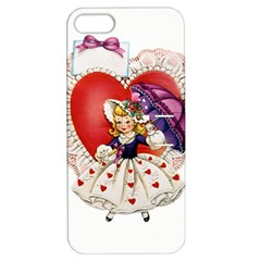 Vintage Valentine Girl Apple iPhone 5 Hardshell Case with Stand