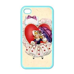 Vintage Valentine Girl Apple iPhone 4 Case (Color)