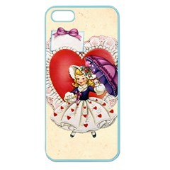 Vintage Valentine Girl Apple Seamless iPhone 5 Case (Color)