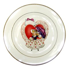 Vintage Valentine Girl Porcelain Display Plate