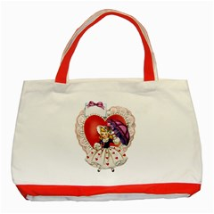 Vintage Valentine Girl Classic Tote Bag (Red)