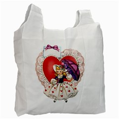 Vintage Valentine Girl Recycle Bag (One Side)