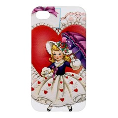 Vintage Valentine Girl Apple iPhone 4/4S Premium Hardshell Case