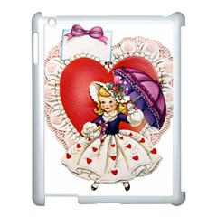Vintage Valentine Girl Apple iPad 3/4 Case (White)