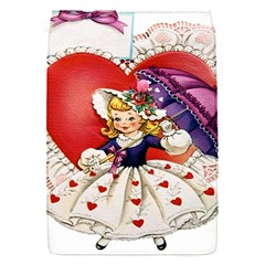 Vintage Valentine Girl Removable Flap Cover (Small)
