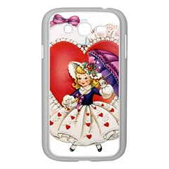 Vintage Valentine Girl Samsung Galaxy Grand DUOS I9082 Case (White)