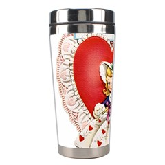 Vintage Valentine Girl Stainless Steel Travel Tumbler