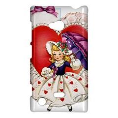 Vintage Valentine Girl Nokia Lumia 720 Hardshell Case