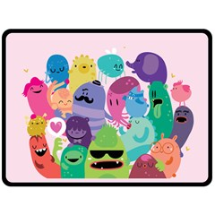 Happy Monsters Fleece Blanket (extra Large)