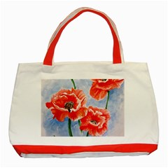 Poppies Classic Tote Bag (red)
