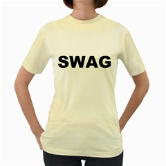 SWAG  Womens  T-shirt (Yellow)