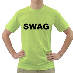 Swag Mens  T Shirt (green)