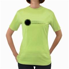 Blue Womens  T Shirt (green)