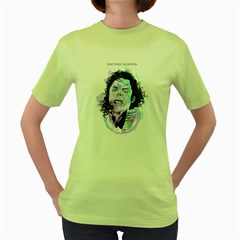 King Of Pop Womens  T Shirt (green)